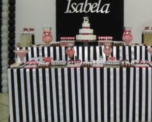 imagem Decoração 15 anos preto e branco com detalhes rosa